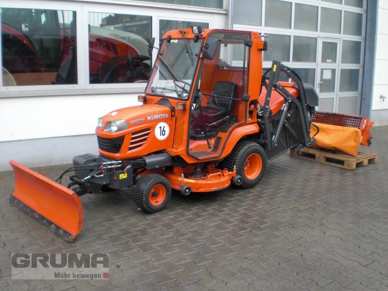 kubota g 26 mit m her und winterdienst kommunaltraktor. Black Bedroom Furniture Sets. Home Design Ideas