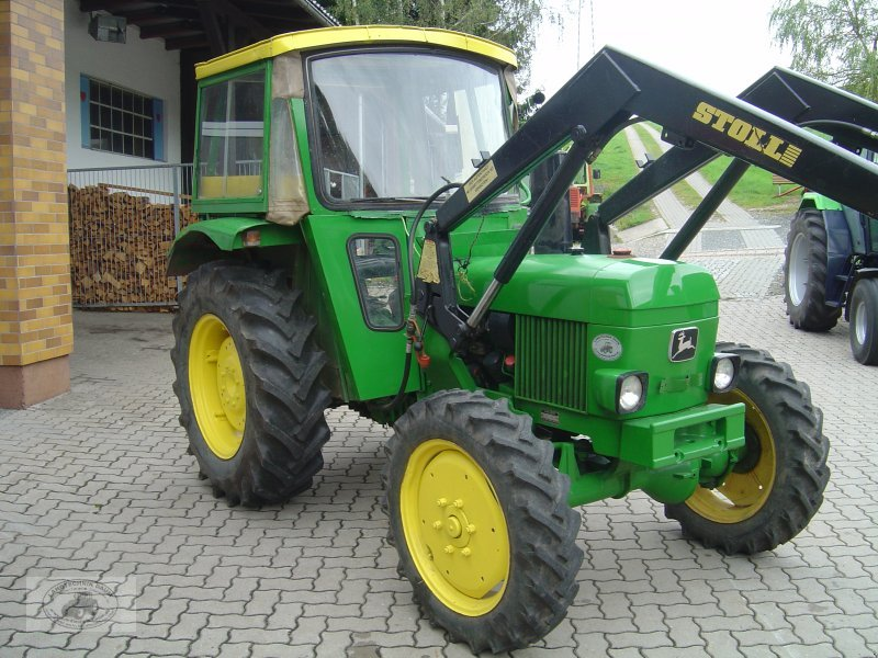 traktor john deere 1030 allrad mit frontlader. Black Bedroom Furniture Sets. Home Design Ideas