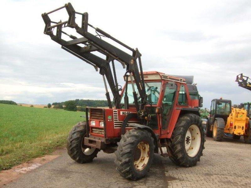 traktor fiat 80 90 dt mit frontlader. Black Bedroom Furniture Sets. Home Design Ideas