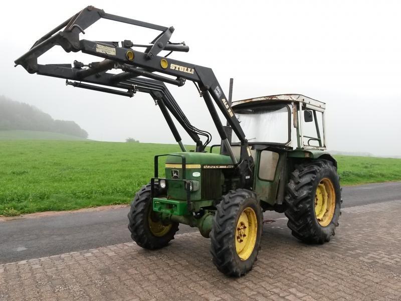 john deere 2030 allrad mit frontlader traktor. Black Bedroom Furniture Sets. Home Design Ideas
