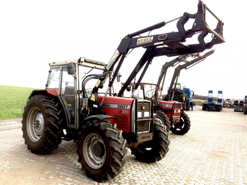 massey ferguson 390 t allrad mit frontlader traktor. Black Bedroom Furniture Sets. Home Design Ideas