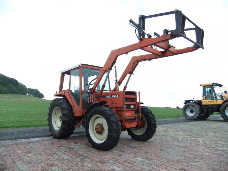 Renault allrad mit frontlader traktor steinau