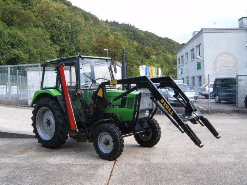 deutzfahr dx310 mit frontladermähwerk traktor