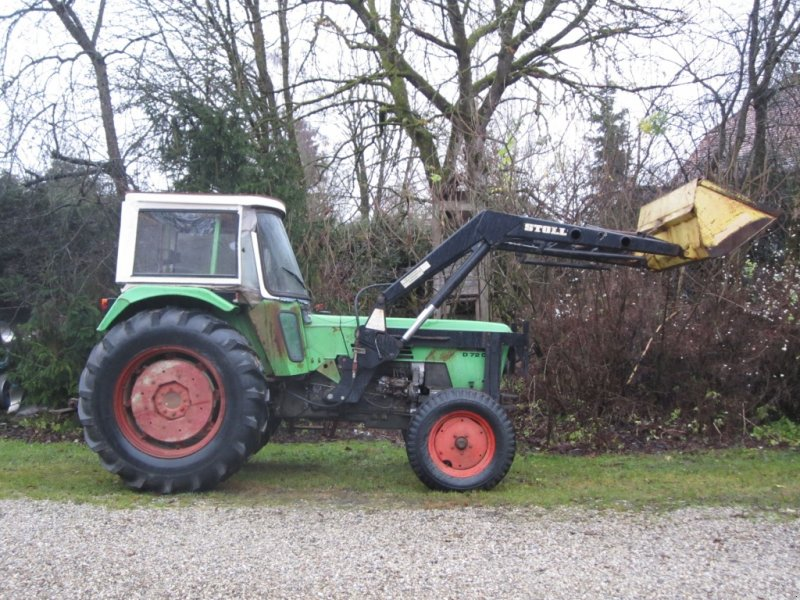Deutz fahr d mit frontlader traktör technikboerse