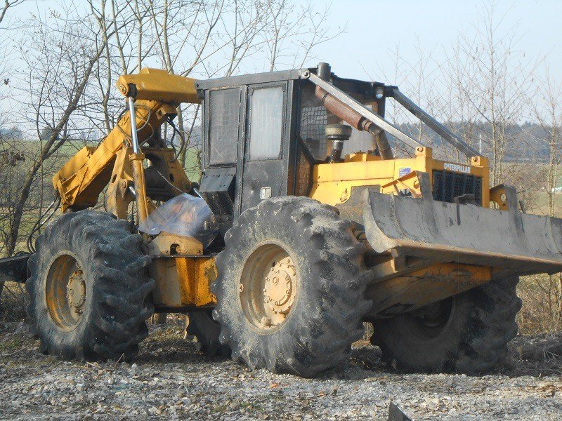 cat cat 518 tracteur forestier